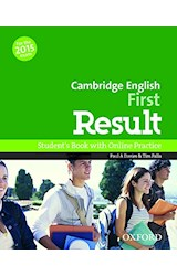 Papel Cambridge English First Result Student's Book and Online Practice Pack