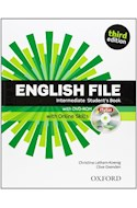 Papel ENGLISH FILE INTERMEDIATE STUDENT'S BOOK (WITH OXFORD ONLINE SKILLS + DVD-ROM) (ITUTOR) (3 EDICION)
