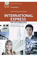 Papel INTERNATIONAL EXPRESS PRE INTERMEDIATE STUDENT'S BOOK PACK (3 EDITION)