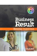 Papel BUSINESS RESULT ELEMENTARY STUDENT'S BOOK WITH DVD-ROM