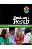 Papel BUSINESS RESULT PRE INTERMEDIATE STUDENT'S BOOK WITH DVD-ROM