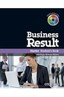 Papel BUSINESS RESULT STARTER STUDENT'S BOOK WITH DVD-ROM
