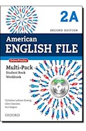 Papel AMERICAN ENGLISH FILE 2 MULTIPACK A WITH ONLINE PRACTICE