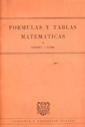 Libro Tablas Y Formulas Matematicas  Azul / Naranja