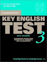 Papel Cambridge Key English Test 3