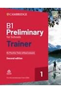 Papel B1 PRELIMINARY FOR SCHOOLS TRAINER CAMBRIDGE [WITH AUDIO DOWNLOAD] [2 EDITION] (NOVEDAD 2021)