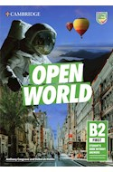 Papel OPEN WORLD B2 FIRST STUDENT'S BOOK WITHOUT ANSWERS CAMBRIDGE (NOVEDAD 2020)