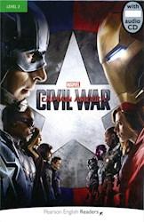 Papel Marvel'S Captain America: Civil War (Pearson Readers Level 3)