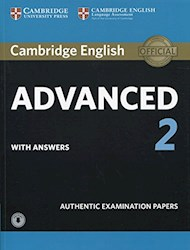 Papel Cambridge English Advanced 2 With Answers And Audio (Authentic Examination Papers)