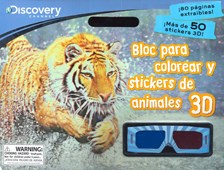 Papel BLOCK PARA COLOREAR Y STICKERS DE ANIMALES 3D (MAS DE  50 STICKERS)