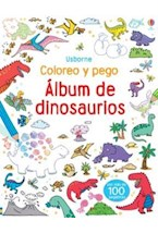 Papel ALBUM DE DINOSAURIO - COLOREO Y PEGO
