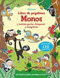 Papel Monos Libro De Pegatinas