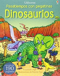 Papel Dinosaurios - Pasatiempos Con Pegatinas