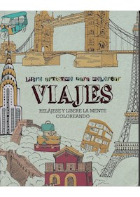 Papel Libro Artistico Para Colorear - Viajes