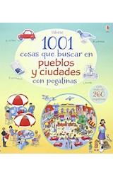 Papel 1001 COSAS QUE BUSCAR EN PUEBLOS Y CIUDADES CON PEGATINAS