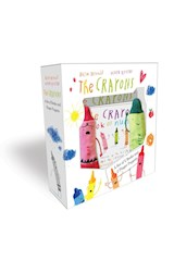 Papel The Crayons: A Set of 2 Books and 2 Finger Puppets