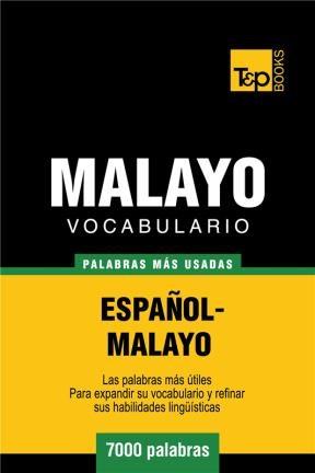 E-book Vocabulario Español-Malayo - 7000 Palabras Más Usadas