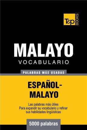 E-book Vocabulario Español-Malayo - 5000 Palabras Más Usadas