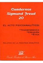Papel CUADERNOS SIGMUND FREUD 20 (EL ACTO PSICOANALITICO)