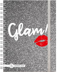Libro Agenda 2020 Shine 15X21 Glam Black Shine