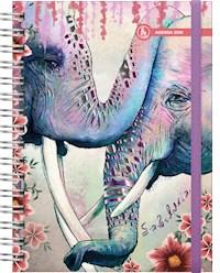 Libro Agenda 2020 Universo 15X21 Elefante Sabiduria - 2 Dias X Pagina