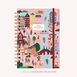 Libro Agenda 2020 A5 De Viaje Amsterdam Semana A La Vista