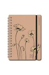 Libro Agenda 2020 A5 Diaria Studio Amapola Flor Rosa