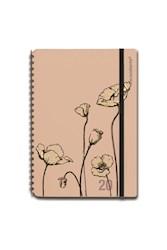 Libro Agenda 2020 A5 Semanal Plein Air Amapola Flor Rosa