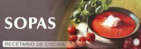 Papel SOPAS RECETARIO DE COCINA