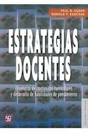 Papel ESTRATEGIAS DOCENTES (COLECCION EDUCACION Y PEDAGOGIA)