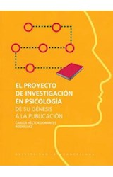 Papel EL PROYECTO DE INVESTIGACION EN PSICOLOGIA