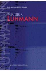 Papel Para Leer A Luhmann