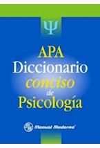 Papel APA DICCIONARIO CONCISO DE PSICOLOGIA