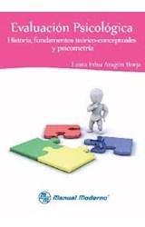 Test EVALUACION PSICOLOGICA HISTORIA, FUNDAMENTOS TEORICO-CONCEPT