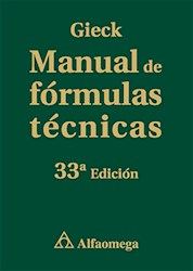 Papel Manual De Formulas Tecnicas. Gieck. 33 Ed.
