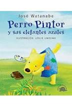 Papel PERRO PINTOR Y SUS ELEFANTES AZULES