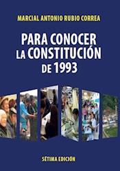 Libro Para Conocer La Constitucion De 1993
