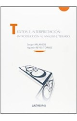 Papel TEXTOS E INTERPRETACION: INTRODUCCION AL ANALISIS LITERARIO