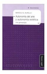 Papel AUTONOMIA DEL ARTE Y AUTONOMIA ESTETICA