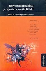 Libro Universidad Publica Y Experiencia Estudiantil.