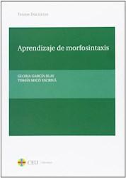 Papel Aprendizaje De Morfosintaxis