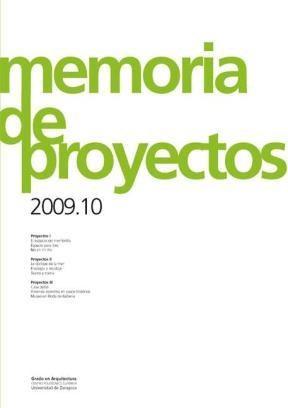 E-book Memoria De Proyectos 2009-10