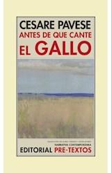 Papel ANTES DE QUE CANTE EL GALLO