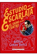 Papel ESTUDIO EN ESCARLATA EL SIGNO DE LOS CUATRO (COLECCION CLASICOS ILUSTRADOS) (CARTONE)