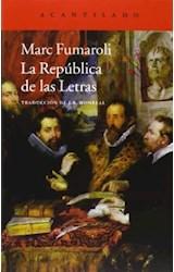 Papel LA REPUBLICA DE LAS LETRAS
