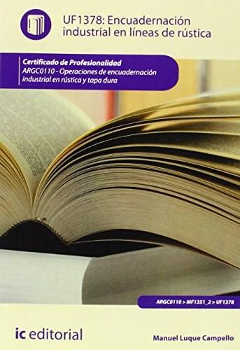 Papel Encuadernación Industrial En Líneas De Rústica. Argc0110 - Operaciones De Encuadernación Industrial