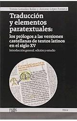 Papel TRADUCCION Y ELEMENTOS PARATEXTUALES