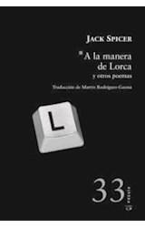 Papel A LA MANERA DE LORCA Y OTROS POEMAS