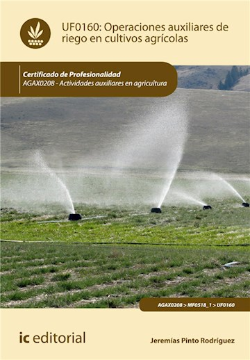 E-book Operaciones Auxiliares De Riego En Cultivos Agrícolas