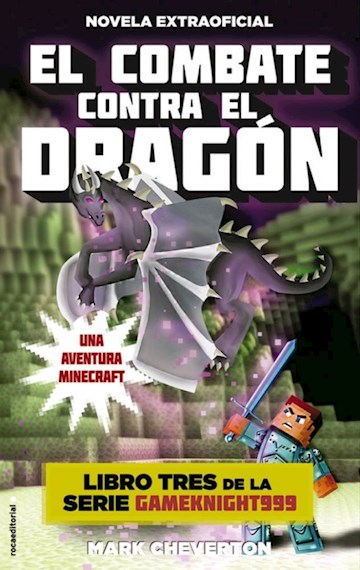 Papel Combate Contra El Dragon (Minecraft 3